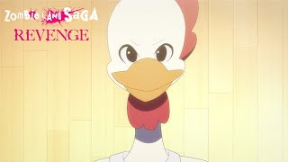 Zombie Land Saga: Revenge Episode 6 | Crunchyroll English Sub Clip: Yamada Tae vs Chicken Dance Battle