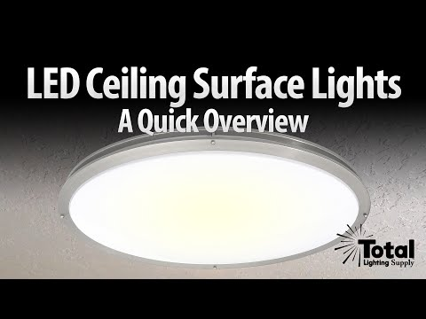 LED ceiling surface light overview oval LED-JR satin nickel series