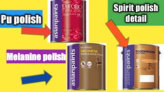 3 Wood polish material detail/Pu polish, melamine polish, Spirit polish detail