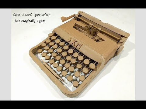 A Typewriter Made Out of Cardboard and it Works