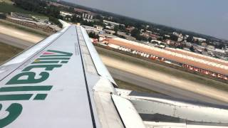 preview picture of video 'Airbus A320 (EI-DSI) Alitalia take off from Milan Linate'