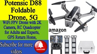 Best Potensic 5G drone camera Potensic D88 Foldable Drone, 5G WiFi FPV Drone with 2K Camera