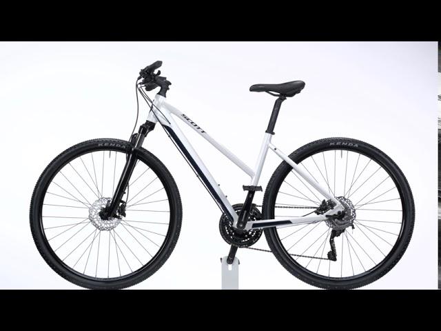 Видео Велосипед Scott Sub Cross 20 Lady White