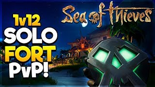 1v12 SOLO FORT PvP! DO WE GET THE KEY?! - Sea of Thieves Gameplay/Highlights
