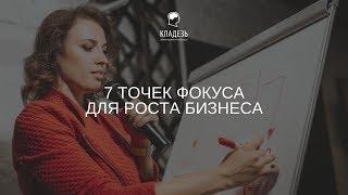 """Бесплатный вебинар: """"7 ТОЧЕК ФОКУСА  ДЛЯ РОСТА БИЗНЕСА"""""""