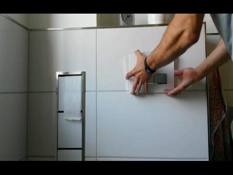 Spülung von Geberit selbst reparieren - Toiletten Spülkasten Unterputz öffnen WC Unterputzspülkasten