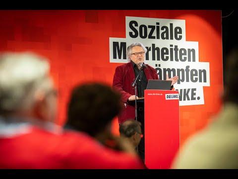 Prof. Klaus Dörre beim Jahresauftakt der LINKEN