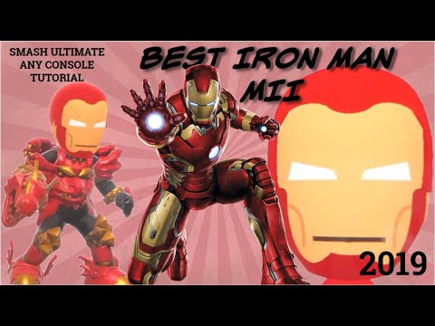IRON MAN Mii Tutorial! | Nintendo Switch, Smash Ultimate Mii Brawler, Any Console, 2019 |