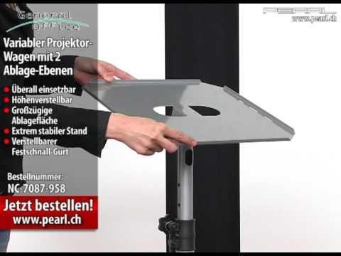 General Office Variabler Projektor-Wagen mit 2 Ablage-Ebenen