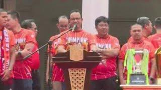 Full - Kata Sambutan Anies Baswedan di Pawai Kemenangan Persija Jakarta
