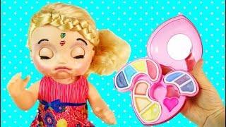 Куклы Пупсики Я НЕКРАСИВАЯ! Беби Элайв Мультик Для девочек Детская косметика Играем Игрушки