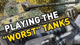 """Playing the """"Worst Tanks"""" in World of Tanks"""