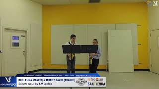DUO E. WANEQ & J. DAVID play Sonate en Ut by J.M. Leclair #adolphesax