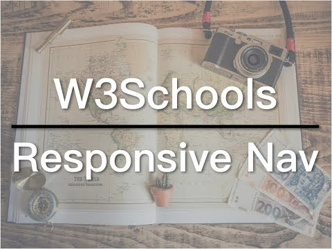 How to Create a Responsive Navigation - W3Schools Video 05