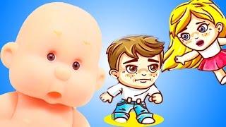 Детский летсплей ПРИКЛЮЧЕНИЯ ДЖИМА И МЭРИ #2 Убегаем от злого Брата и папы  Видео для детей СПТВ