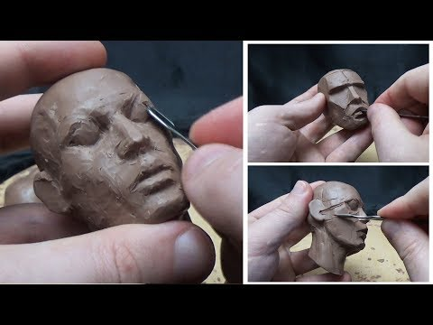 sculpture timelapse of a face by stecca