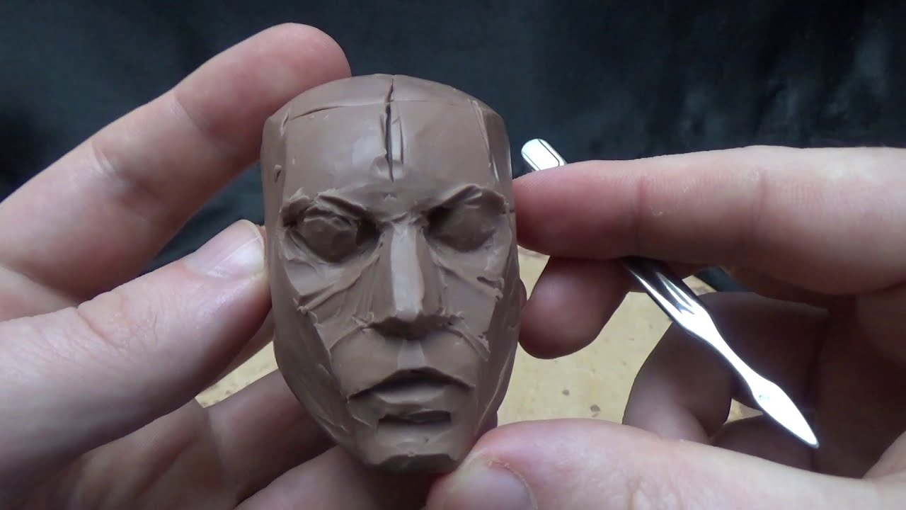 3d head modelling sculpture by stecca