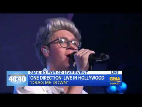 One Direction - Drag Me Down (live at GMA) (видео)