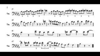 Playing my transcription: JJ Johnson Blues For Trombone - Thủ thuật