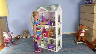 """Мега большой игровой кукольный домик для барби 4108wg Beverly + гараж 124см від компанії Интернет магазин """"Дом-сад"""" - відео"""