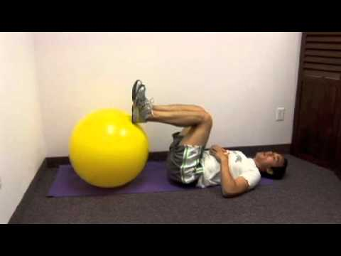 Hamstring Exercise on Ball