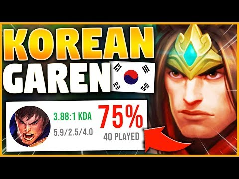 THE GAREN BUILD THAT IS DESTROYING KOREAN CHALLENGER... - League of Legends
