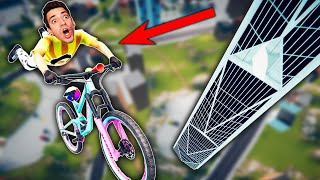 BIKING THE BIGGEST MAP IN THE GAME! (Descenders)
