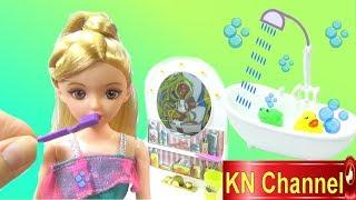Đồ chơi trẻ em PHÒNG TẮM MỚI CỦA BÚP BÊ KN Channel ĐÙA GIỠN VỚI ẾCH CON VUI NHỘN