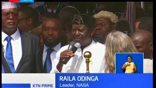 Where was Kalonzo Musyoka during Raila Odinga's swearing-in?