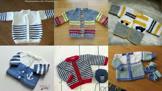 Simple And Beautiful Hand Knitting Baby Sweaters Designs