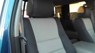 Toyota Tundra custom Katzkin Leather 2 tone leather interior