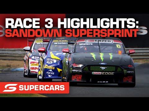 SUPERCARS 2021 Sandown スーパースプリント レース3ハイライト動画