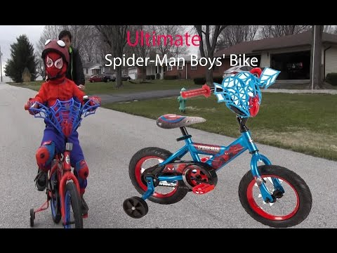 Huffy Marvel Ultimate Spider-Man Boys' Bike/ Review by tea much much fun.