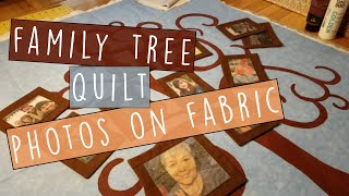 Making A FAMILY TREE QUILT Using Fabric Paints, Photos On Fabric & Art Projector