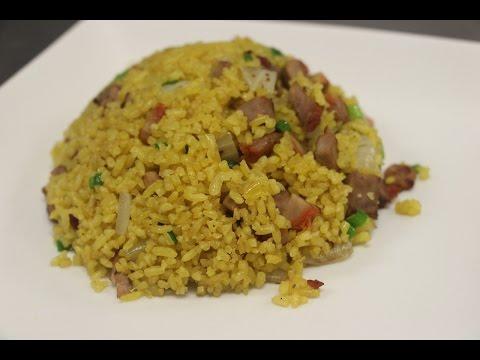 How to Make Yellow Fried Rice (Pork Fried Rice)
