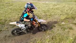 Филипп тестирует детский кроссовый мотицикл KXD 707B