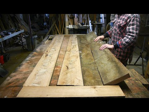 Crafting an Oak Door from Scrap Wood