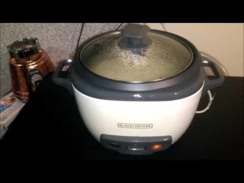 Como hacer arroz en arrocera electrica Black  Decker