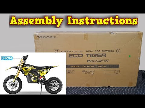 Tiger Electric Dirt Bike - Unboxing - Assembly Instructions