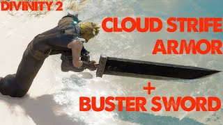 Cloud Strife Armor and Buster Sword