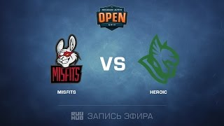 Misfits vs Heroic - Dreamhack Tours - map1 -de_mirage [yxo,Enkanis]