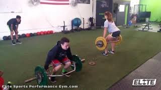 Athletes Working P-Chain Power with Trap Bar Deadlifts