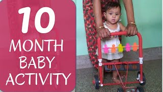 10 month old baby activity | How to make baby walk