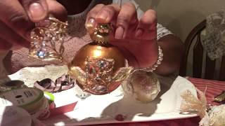 DIY Shabby Chic Christmas Ornaments, (Part 1, Show & Tell)