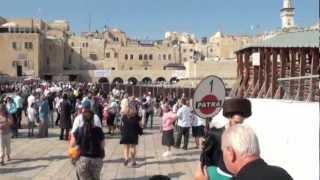 A Walk to the Wailing Wall of Jerusalem Israel