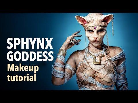 Sphynx goddess makeup tutorial