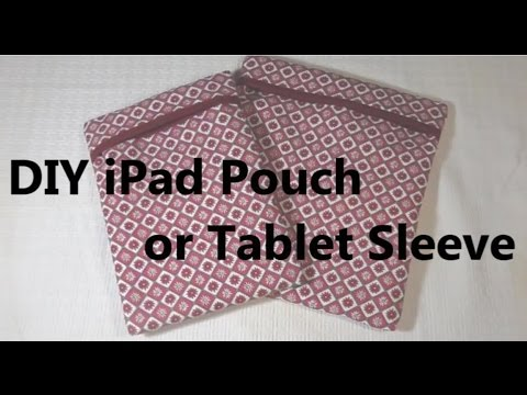 how to make iPad cases or Tablet Sleeve , laptop pouch DIY Tutorial 아이패드 파우치 만들기