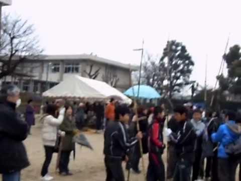 2011-01-09 どんど焼き in熊本市立桜木小学校 その3