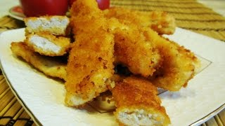 Рецепт- Золотые Пальчики из Куриного Филе в Кляре, Сочные Хрустящие Куриные Рулетики