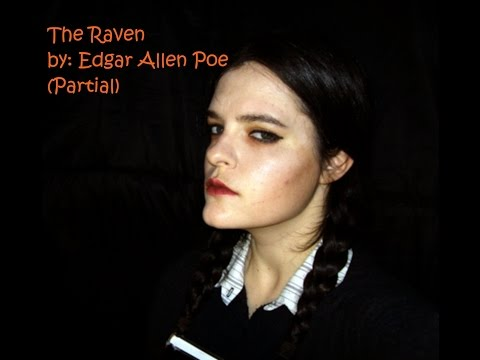 Wednesday Addams reads The Raven by: Edgar Allan Poe